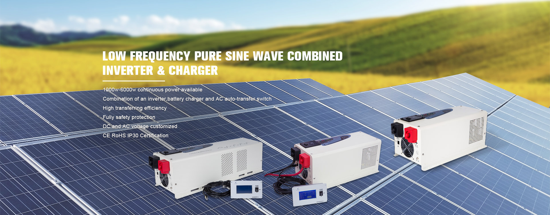 Low frequency pure sine wave conbined inverter with charger