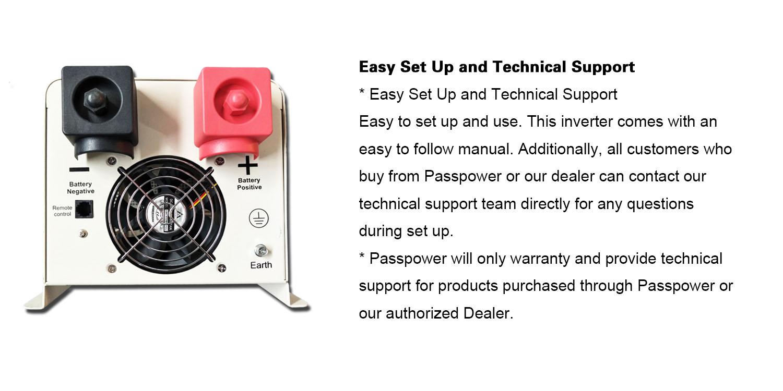 PS-6000 6kw low frequency pure sine inverter charger 24 volt dc 120 volt ac 6000 watt