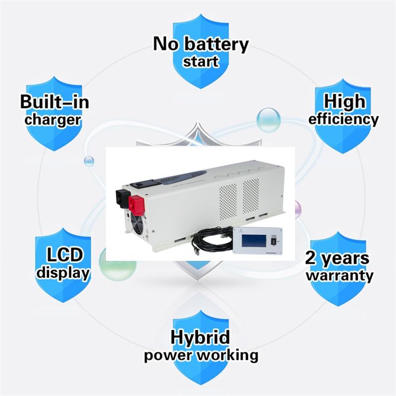 PS-5000  5000 Watt 48 Volt DC to 120 Volt AC Pure Sine Wave Power Inverter charger