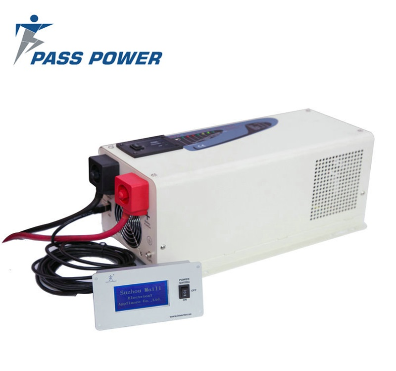 PASSPOWER 1000 Watt 24 volt DC 230 volt AC Offgrid Single Phase Pure Sine Wave Power Inverter with Charger 1kw Max 3kw