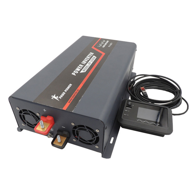 XP-3000 3000 watt 12 volt dc to 220 volt 230 volt ac offgrid power pure sine power inverter black