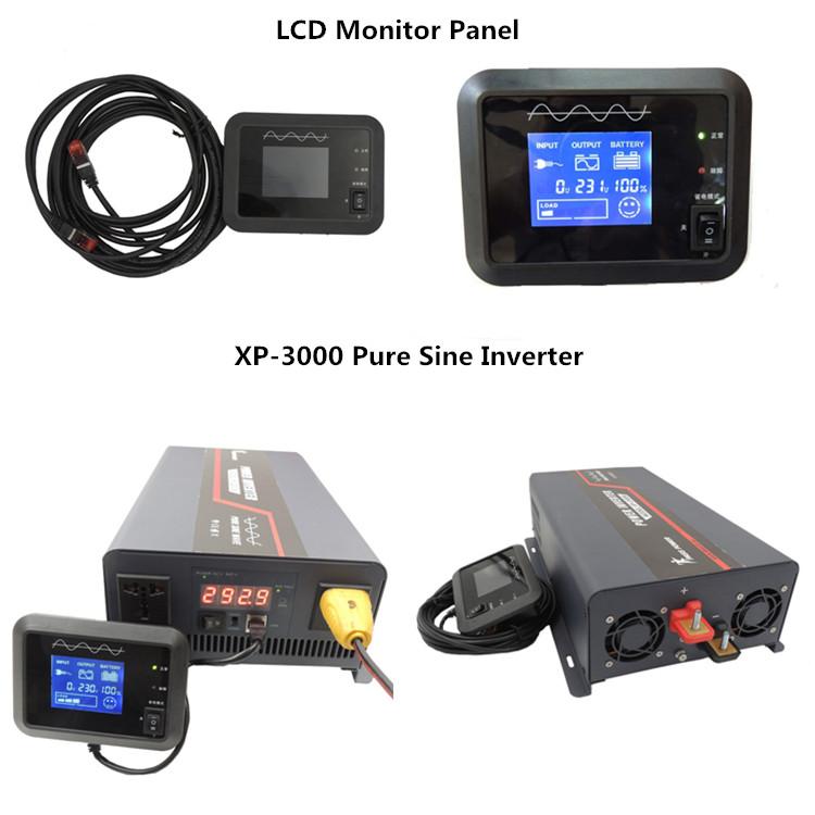 XP-3000  3000W 12 volt dc to 110 volt 120 volt ac single phase pure sine inverter black