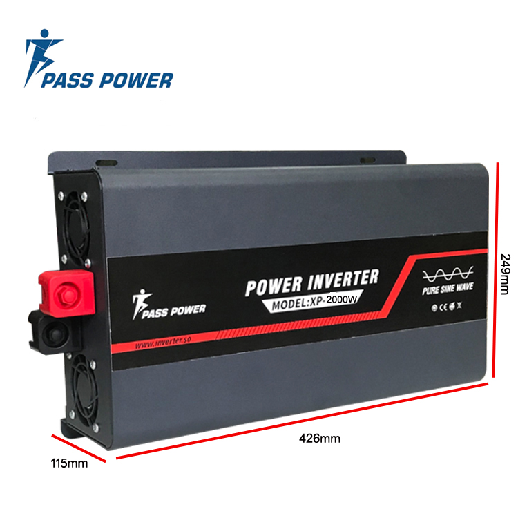 XP-2000 New high frequency 2000 watt 24 vdc to 220 vac pure sine wave power inverter black