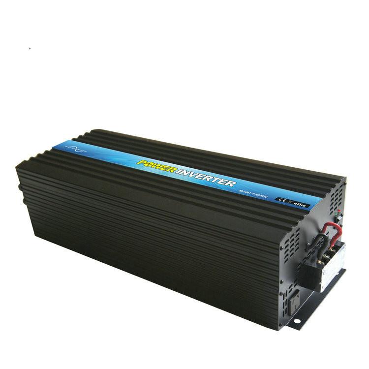 P-6000 6000w 12v 220v 230v pure sine wave dc to ac high frequency inverter 6kw for rv car truck ambulance camper trailer